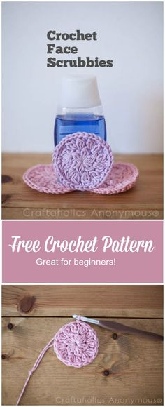 DIY Crochet face scrubbies pattern and tutorial || Eco-friendly + great beginner crochet project. These make great Christmas gift idea and only use a little yarn - great stash buster