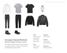 Minimalist men's wardrobe.