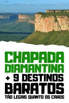 Já conhece a Chapada Diamantina, na Bahia? Pois esta é um das nossas 10 dicas de lugares baratos para viajar e tirar férias com custo bem pequenininho! #viajarbarato #viagem