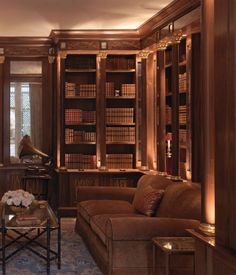 Tim Gosling Fitted library in sycamore - Luxury Bespoke Furniture Gosling Ltd.