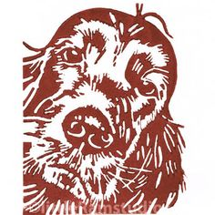 Red Setter Dog - Original Hand Pulled Linocut Print £18.00
