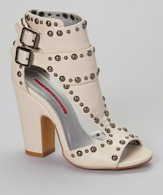 Another great find on #zulily! Nude Studded Gladiator Pump by C Label #zulilyfinds