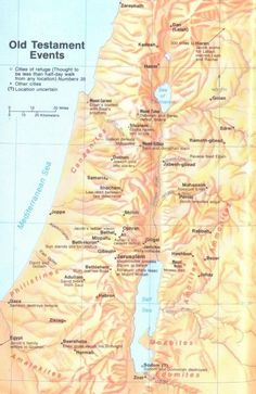 Map of Old Testament events, timeline, bible maps