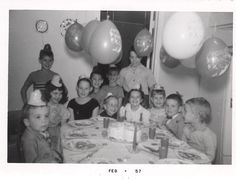 #vintage #photos #birthday #children #ballons #1960's Today Is Your Birthday, Happy Birthday, Paper Scraps, Those Were The Days, Vintage Birthday, More Fun, Vintage Photos, Collage, Candles