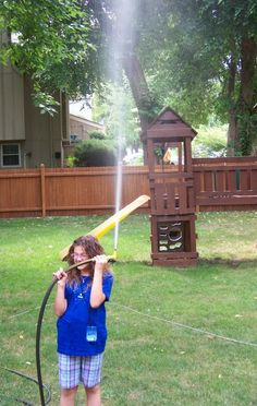 {Summer Science} DIY Water Rockets for Kids - explore the science of forces! #stem