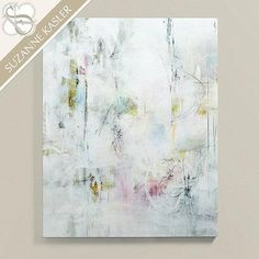 Suzanne Kasler Subtle Spring Art in White and Multicolor