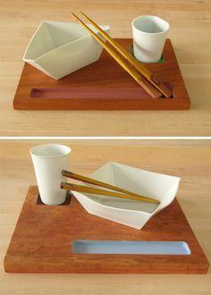 Origamic Ceramic: Paper-Style Ceramic Plates, Bowls & Cups