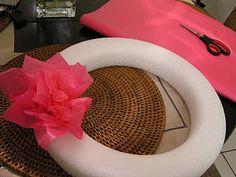 tissue paper wreath
