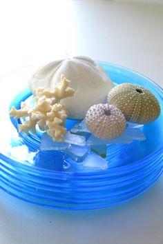 sea-blue glass plates