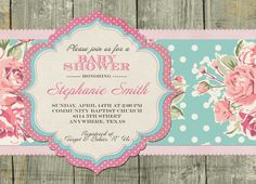 Shabby Chic Invitations | Request a custom order and have something made just for you.