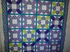 Quilting Board member salederer's Easy Prairie Flower Quilt pattern by Jenny Doan of MSQC