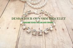 ANY SINGLE COLOR, bracelet, you create, 8mm, designer inspired, bridal, everyday choose color, choose finish dksjewelrydesigns