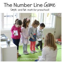 The number line is a very simple game that invites the children to use their whole bodies. As you know, young children learn best when they are actively involved in the learning process and this definitely gets them involved. To begin our number line game, the children each picked a number card. I used tape …