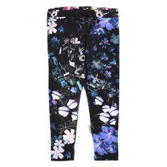 Print leggings, Black Violet