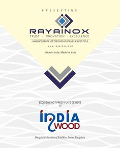 We cordially invite you to visit our exhibition stall at indiawood 2018 stall no h4 b241 add bangalore international exhibition center date stopboris Images