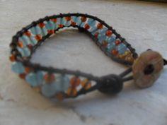 bracciale con giada colorata e corniola