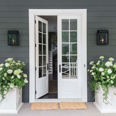 new Ideas french door exterior front porches patio Double Patio Doors, Double Doors Exterior, Wood Exterior Door, French Doors Patio, French Patio, French Doors With Screens, Sliding French Doors, Double French Doors, Glass French Doors