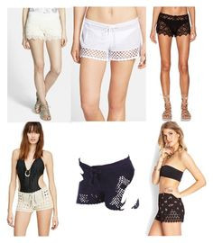 """""""Crochet & Lace bottoms 5"""" by shells-n-cheese on Polyvore featuring Jolt, Becca, Indah, Forever 21 and Roxy"""