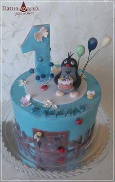 Little Mole Birthday Cake By Tortolandia - (cakesdecor) Beautiful Cakes, Amazing Cakes, 16th Birthday, Birthday Cakes, Character Cakes, Occasion Cakes, Sugar Art, Daily Inspiration, Cake Decorating