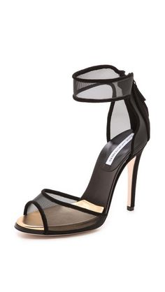 Diane von Furstenberg Rae Mesh Sandals. Love these though I'm not sure I'd actually wear them!