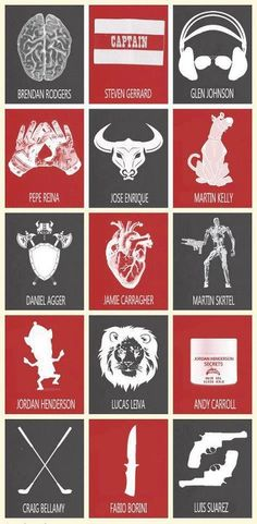 LFC Players and their nicknames.