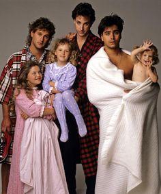 Full House - Season 1, 5/9/88,  Dave Coulier (Joey), Candace Cameron (D.J.), Jodie Sweetin (Stephanie), Bob Saget (Danny), John Stamos (Jesse), Ashley Olsen (Michelle)
