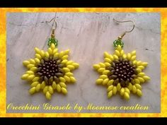 Orecchini Girasole (tutorial Sunflower Earrings) - YouTube