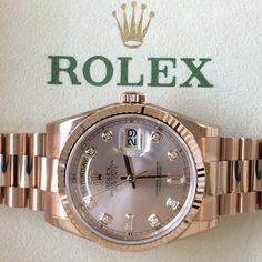 Rolex Day-Date with #Diamond dial #Stunning http://www.globalwatchshop.co.uk/rolex-day-date-rose-gold-rose-diamond-dial-118235.html?utm_content=buffer93da9&utm_medium=social&utm_source=pinterest.com&utm_campaign=buffer Click for details #InStock