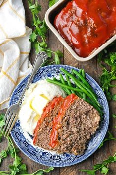This old-fashioned meatloaf recipe has a surprise ingredient! How To Cook Meatloaf, Best Meatloaf, Meatloaf Recipes, Cooking With Ground Beef, Ground Beef Recipes, Meatloaf With Oatmeal, Old Fashioned Meatloaf, Classic Meatloaf Recipe, Slow Cooker Times