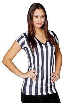 Womens Referee Shirts   Comfortable V-Neck Ref Shirt for Waitresses, Refs, More! *** You can find out more details at the link of the image.