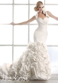 Check out this #weddingdress: 90105 by Simone Carvalli via iPhone #TheKnotLB from #TheKnot