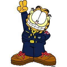Cub Boy Scouts of America Garfield Signs Up Garfield And Odie, Garfield Comics, Cub Scouts, Girl Scouts, Pack Meeting, Bart Simpson, Cubs, Disney Characters, Fictional Characters