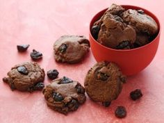 Tangy dried cherries add a pleasant pop to these soft, semi-sweet chocolate rounds.