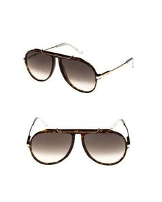 c5c7a0ff9d22 Women s 60mm Gradient Aviator Sunglasses - Dark Havana  Gold  Green