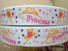 5 Yards Princess Wand & Tiara Grosgrain Ribbon 7/8 by Ribbonology, $7.00