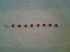 """January Garnet  Infant birthstone bracelet 5"""""""