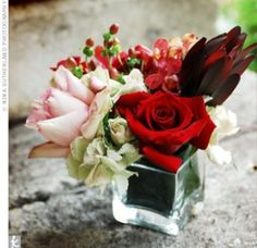 Wedding Theme – Red Rose Centrepiece