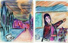 2 desenho a caneta da serie 'A espera '