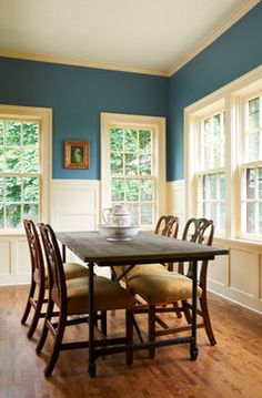 Traditional Dining Photos Teal Accent Wall Design Pictures Remodel Decor And Ideas