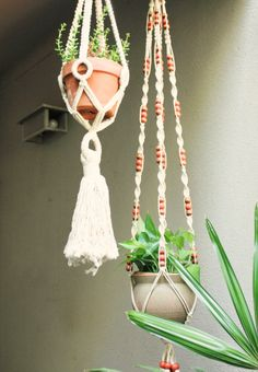 Cute Macrame pot holders :: Calico skies: Thrifting