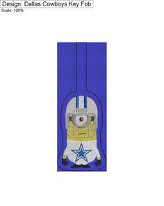 Dallas Cowboys Minion Key Fob by CharlaBUStedStitches on Etsy