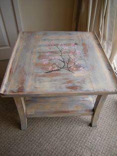 Bespoke Shabby Chic Japanese Hand Painted table