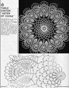 Home Decor Crochet Patterns Part 94 - Beautiful Crochet Patterns and Knitting Patterns Mandala Au Crochet, Free Crochet Doily Patterns, Crochet Doily Diagram, Crochet Chart, Filet Crochet, Crochet Motif, Crochet Coaster, Crochet Round, Crochet Books