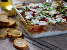 Italian Seven-Layer Dip recipe from Trisha Yearwood via Food Network (use sweet chicken sausage)