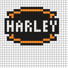 Harley_Davidson_Logo by Miste0r on Kandi Patterns