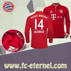 fc-eternel:Maillot Bayern Munich Manche Longue ALONSO 14 Domicile 16/17 Maillot Bayern Munich, Lewandowski, Football, Sweatshirts, Sports, Sweaters, Tops, Baby Born, Long Dress Patterns