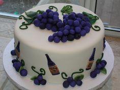cute wine themed cake