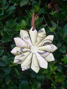 Green & Brown Swirl Ornament Back  by Colorfly Studio, via Flickr