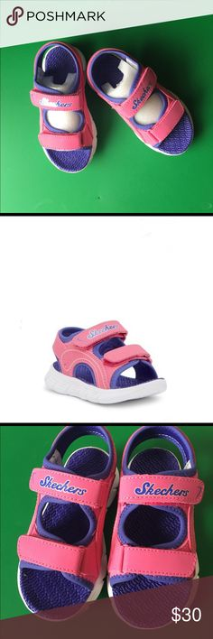 3fbd365b5aaa Skechers toddler Girl pink and Purple Sandal Brand new with box . This cute  C flex