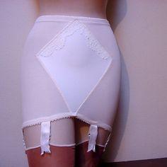 Open bottom girdle white bra and sheer stockings open bottom girdles